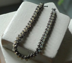 Badminton Bracelet in Sand Opal/Antique