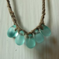 Raindrop and Silk Necklace